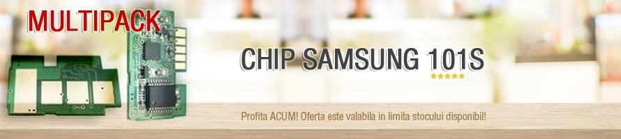 MultiPack Chip Samsung MLT-D101 ML2160 2160W 2165 2165W 2168 SCX3400F 3405F 3405FW 3407 1.5 K NEW
