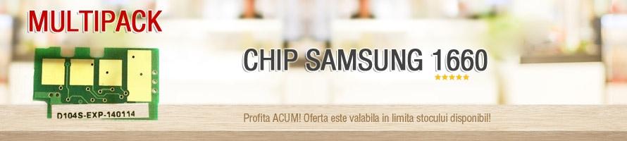 MultiPack Chip Samsung ML1660 1661 1665 1666 1673 1673DCS 1674 1678 1.5k ML D104