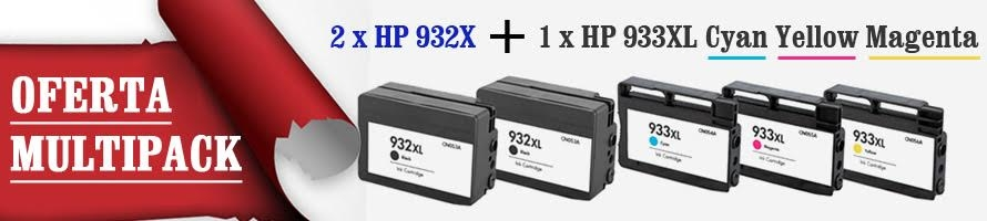 MultiPack Cartus compatibil HP 932XL HP 933XL Cyan Yellow Magenta